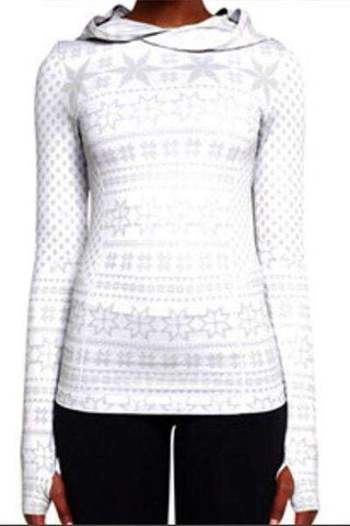Nordic Hoodie Long Sleeve True White & Grey (Climawear)