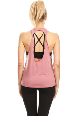 Twist Tank, Pink (The Free Yoga)