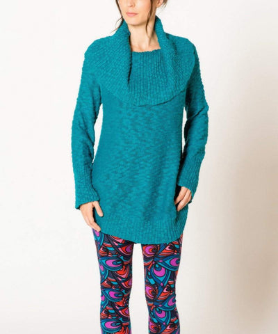 Kumari Cowl Sweater Ocean Depths (Satva)