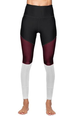 Lexi Full Legging, Black and Burgundy (Whisper)