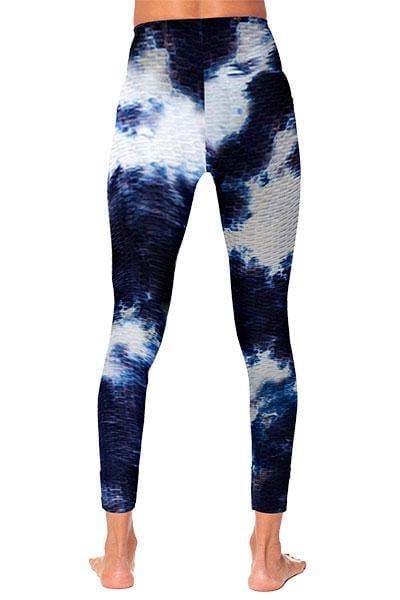 Tie Dye Legging, Blue and White (Whisper)