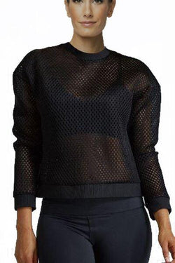 Star Mesh Top, Black by Noli