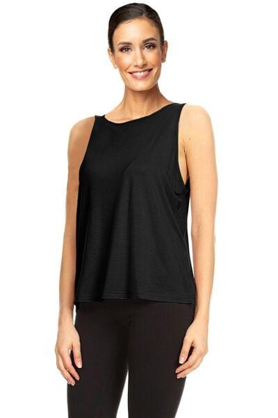 Lace Back Tank, Black by The Free Yoga