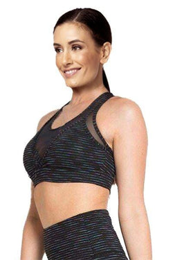 Multi Stripe Bra, Black by The Free Yoga