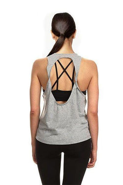 Twist Tank, Grey by The Free Yoga
