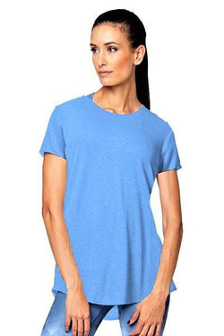 Sienna Short Sleeve Top, Sky Blue by Vie Active