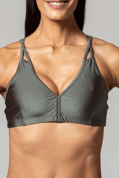 Allison Bra, Metallic Army (Whisper) - Bra Top - Whisper