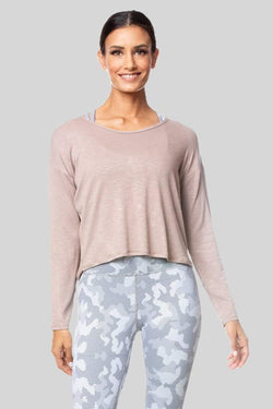 Alia Long Sleeve Twist Top, Oatmeal