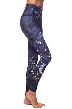 Constellation Graphic HR Legging, Blue (Onzie) - Full - Onzie