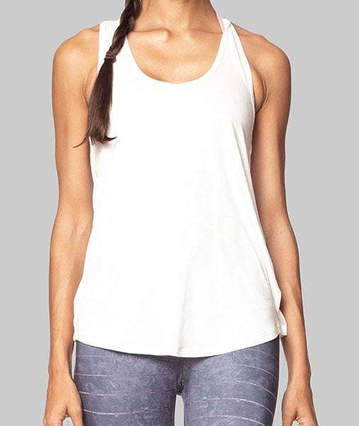 Ceci Crepe Tank, Cream - Tank Top - Vie Active