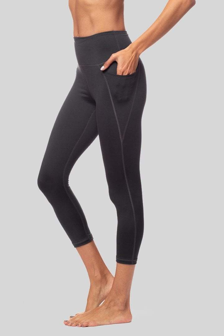 Lili 3/4 Legging, Slate - Bottoms - Vie Active