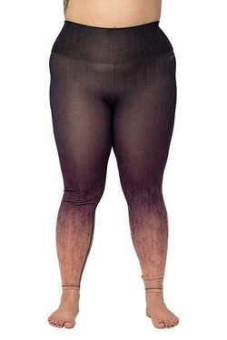 Alpha 7/8 High Waisted Legging, Grey/Purple Ombre