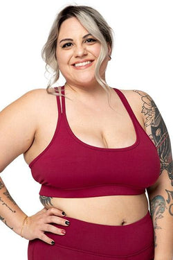 Lotus Sports Bra, Aubergine (Threads 4 Thought)