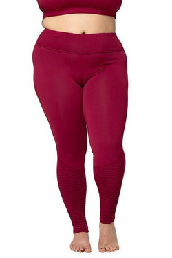 Minx Moto Legging, Aubergine (Threads 4 Thought)
