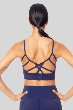 Kimberly longline Bralette, Ink Blue