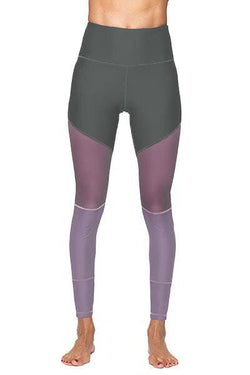 Lexi Full Legging, Grey and Mauve (Whisper)