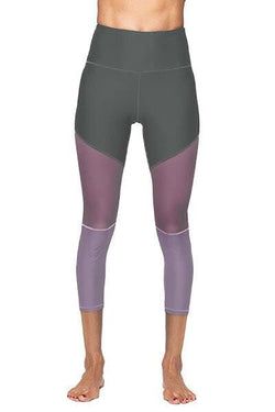 Lexi 3/4 Legging, Grey and Mauve (Whisper)