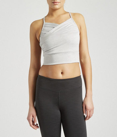 WRAP UP BRALETTE - LT HTHR GREY (Manduka)