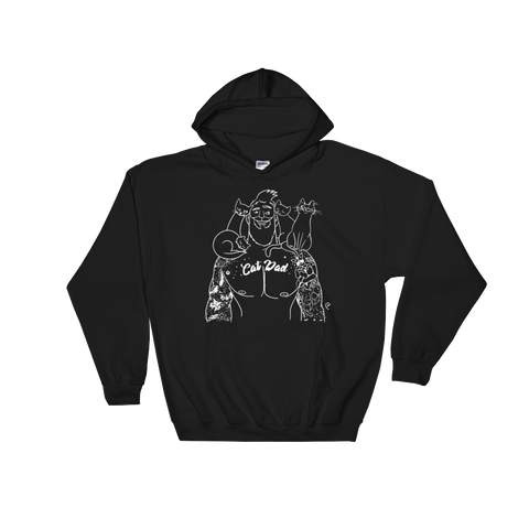 Cat Dad Outline Hooded Sweatshirt