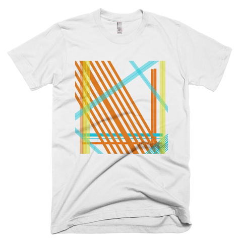 Abstract Lines - Short sleeve men's t-shirt