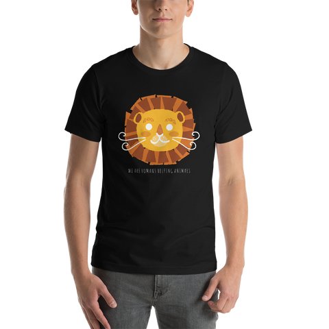 WE ARE HUMANS HELPING ANIMALS - Short-Sleeve Unisex T-Shirt