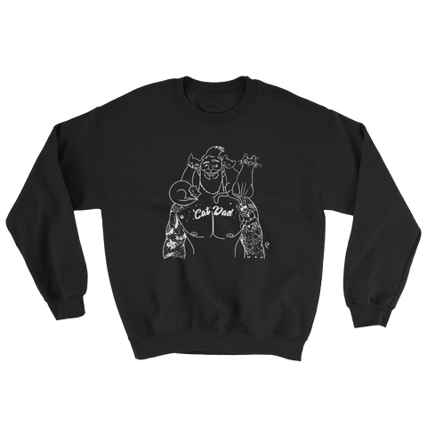 Cat Dad Outline Sweatshirt