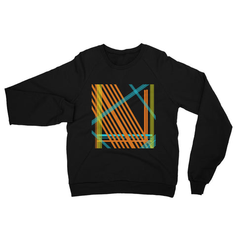 Abstract Lines Raglan sweater