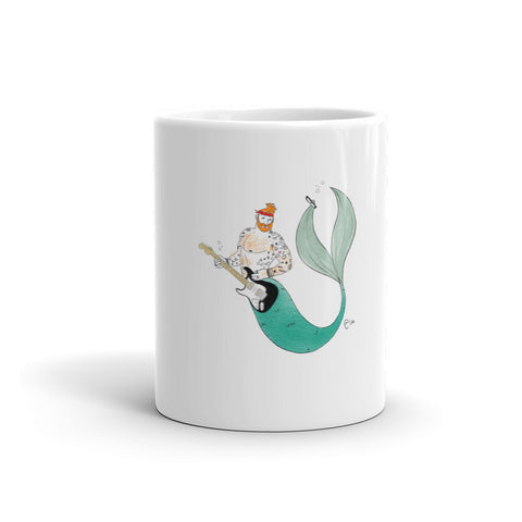 """Merman Rocker Taking Selfie"" Mug"