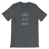 We Are Humans Helping Animals Short-Sleeve Unisex T-Shirt
