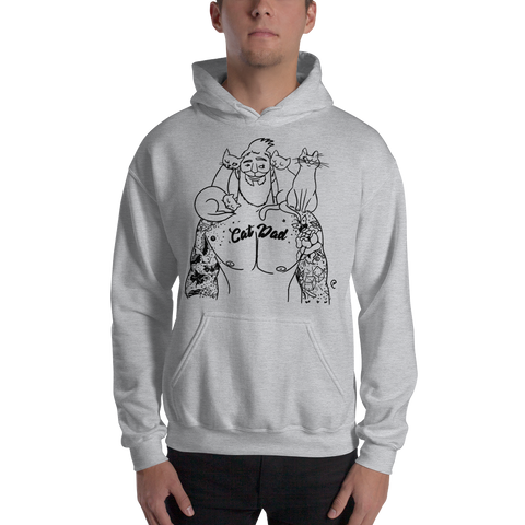 Cat Dad Hooded Sweatshirt