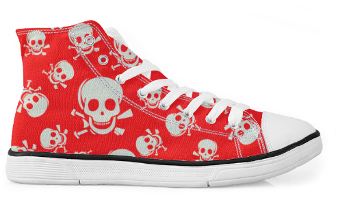 Skull Woman Canvas Urban Shoes