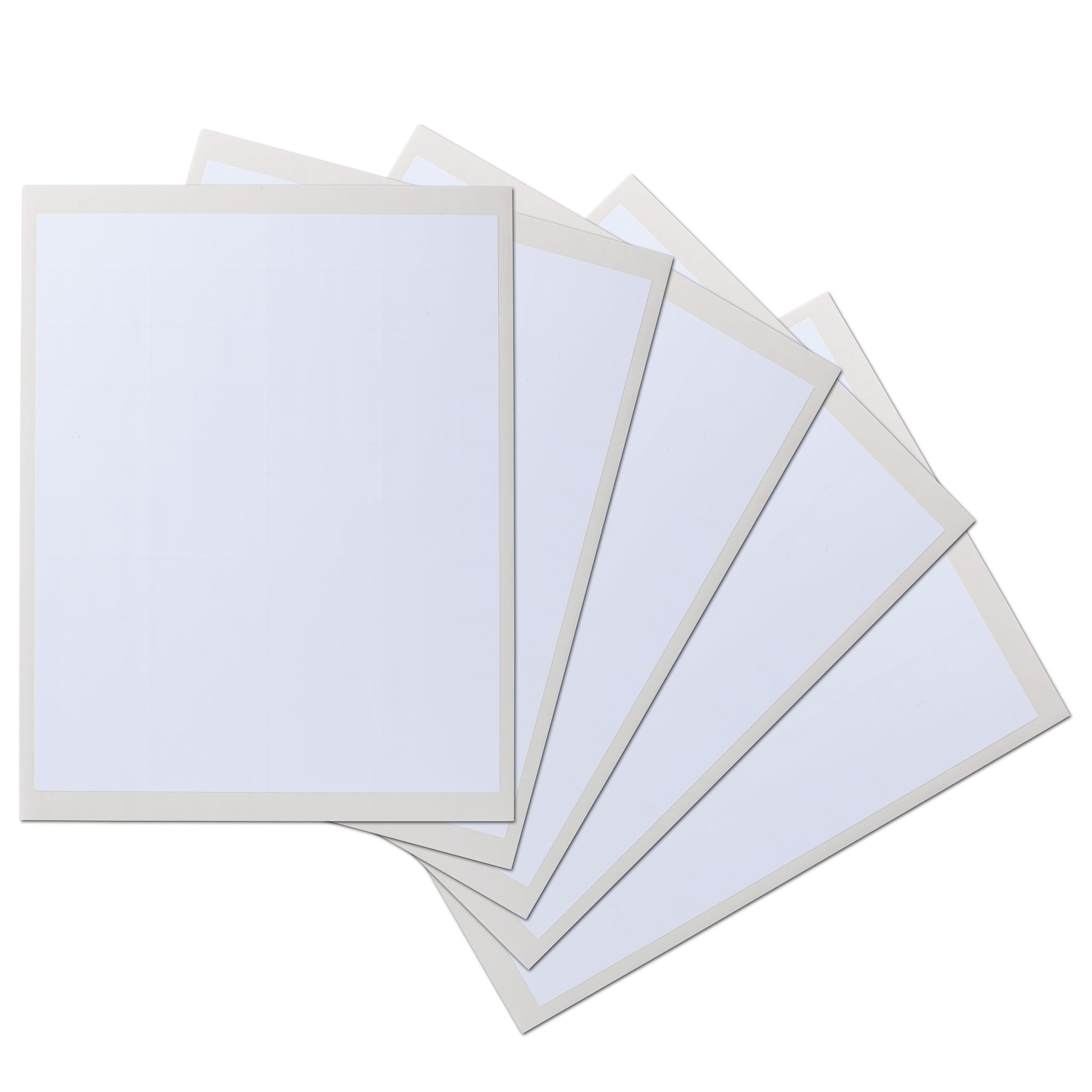 2 x1 inch Rectangle Waterproof Labels