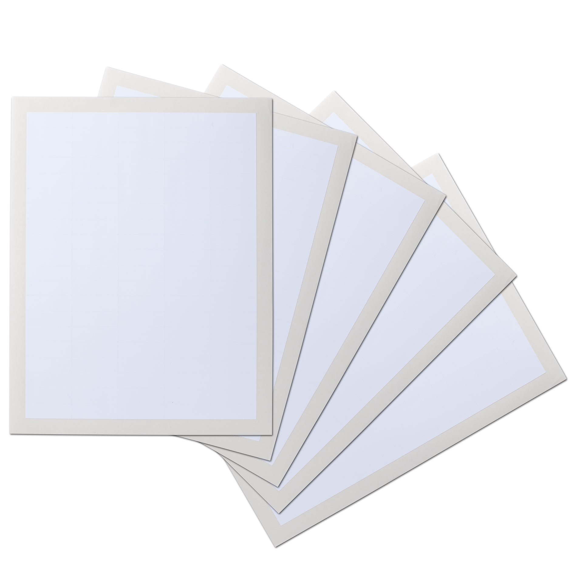 1.5 x 0.5 inch Rectangle Waterproof Labels