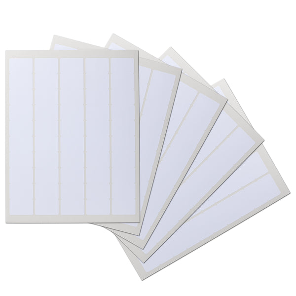 1.5 x 1 inch Rectangle Waterproof Labels