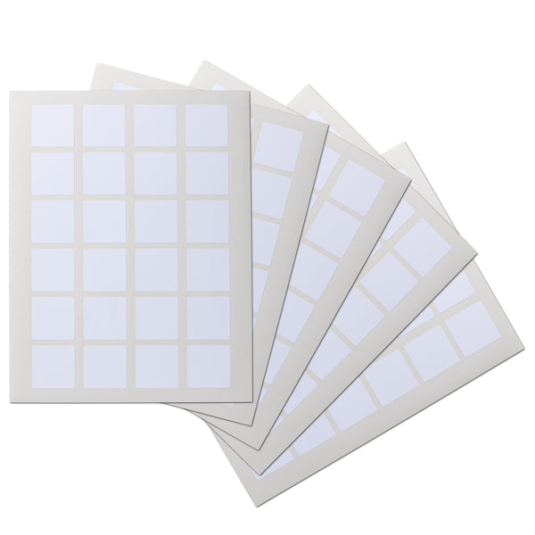 1.5 x 1.5 inch Square Waterproof Labels