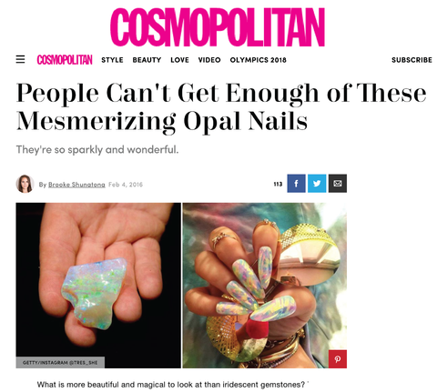 Tres She on Cosmopolitan online press clip