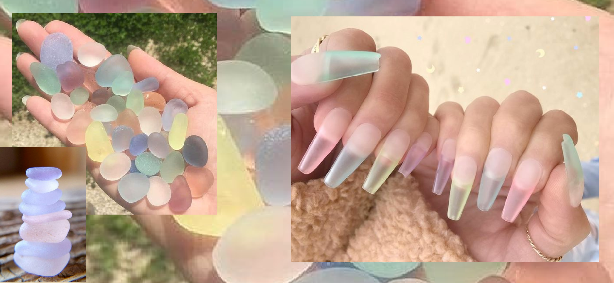 Tres She sea glass nails