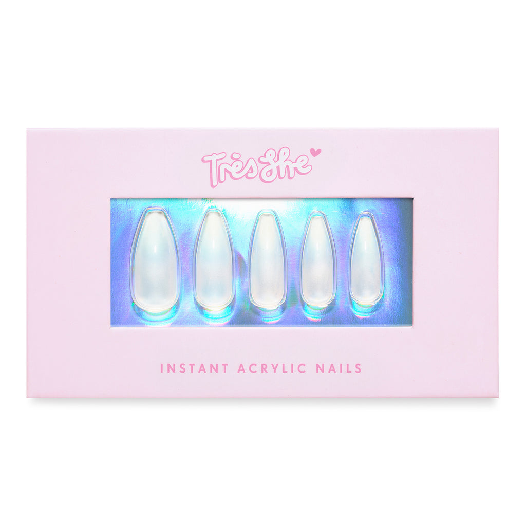 Tres She Instant Acrylics Nails Crystal Clear Box Shot