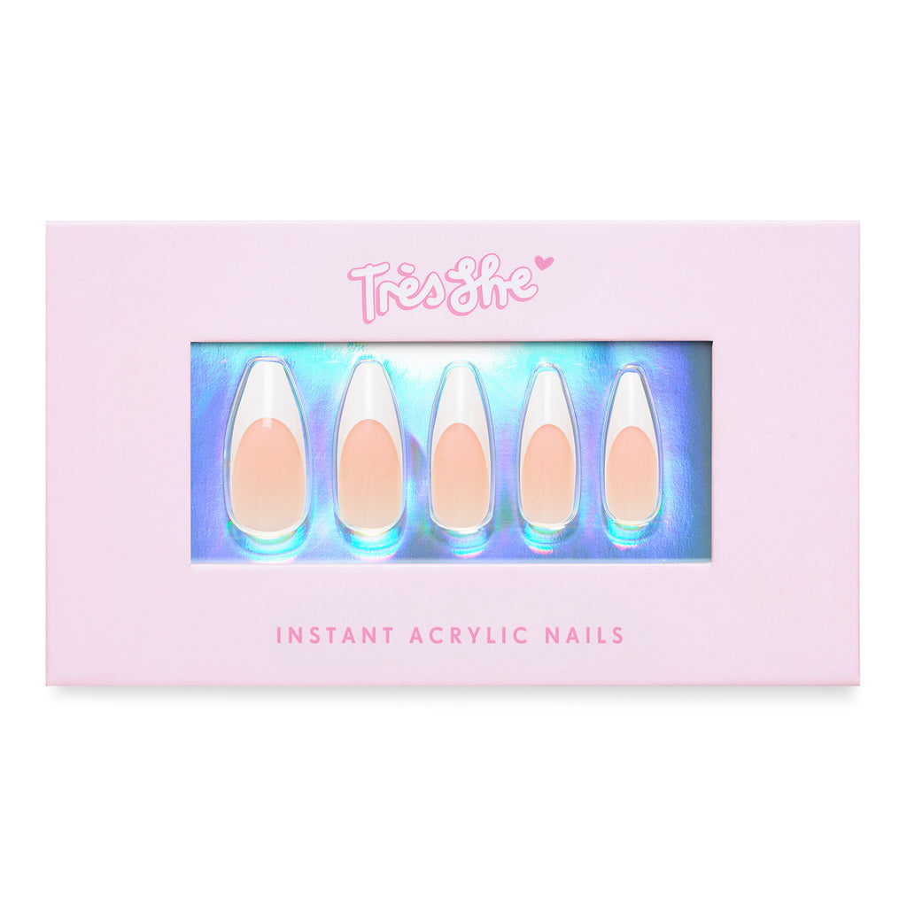 Tres She Instant Acrylics Nails Porn Star Classic French Tip Box Shot