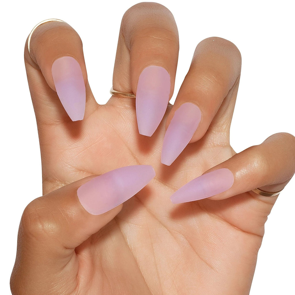 Sea Glass Matte Purple Press On Nails