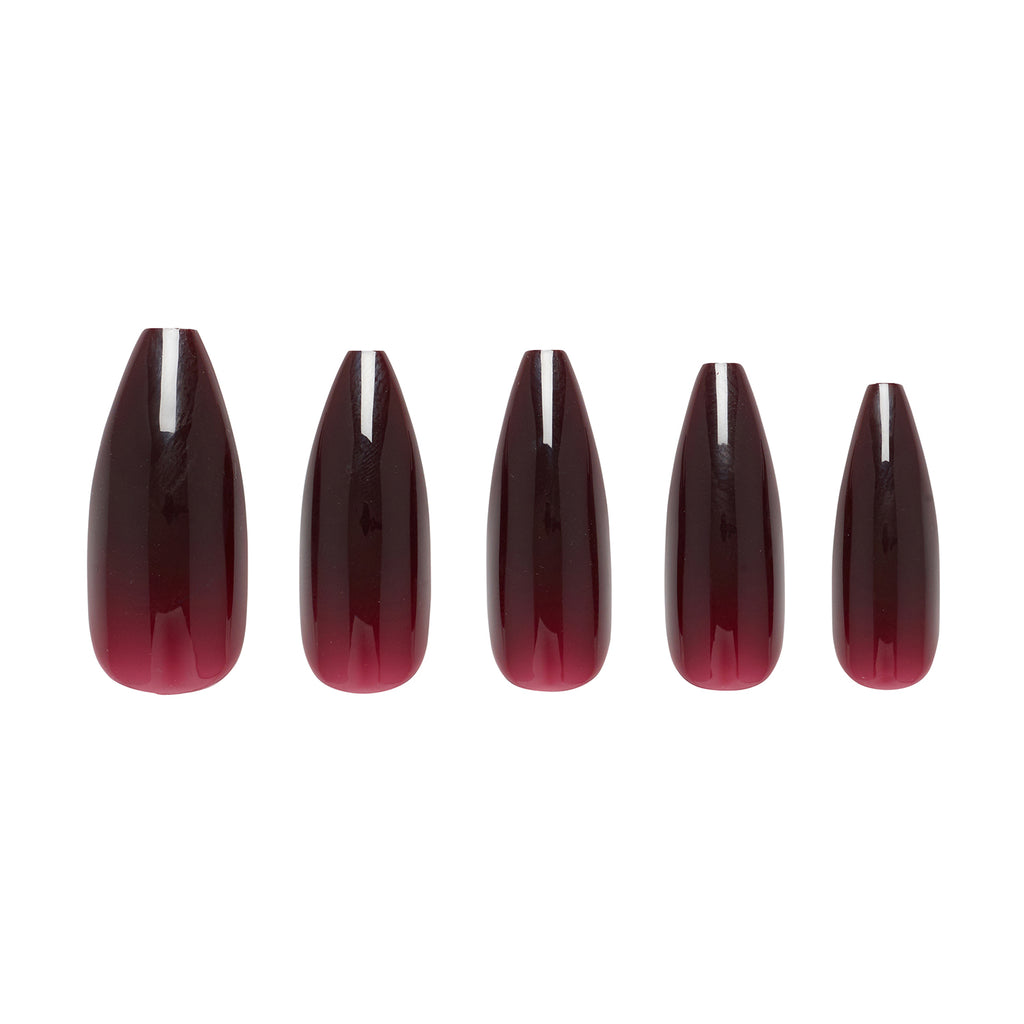 Cherry Cola Ballerina Long nails five sizes