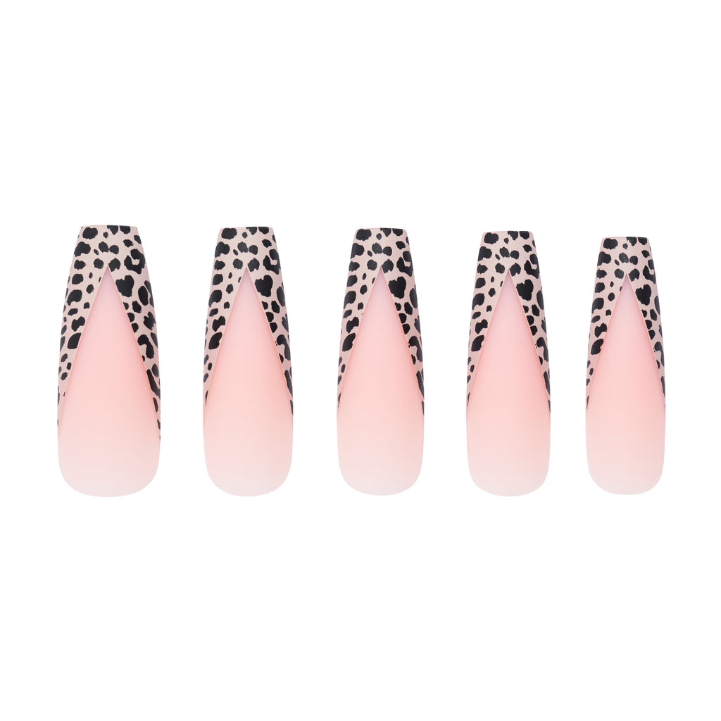 Tres She Ultra Long Instant Acrylics Wild Tingz Leopard Nude