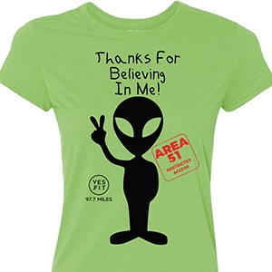 Extraterrestrial Female Shirt