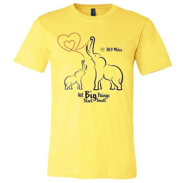Elephants in Thailand Yellow shirt