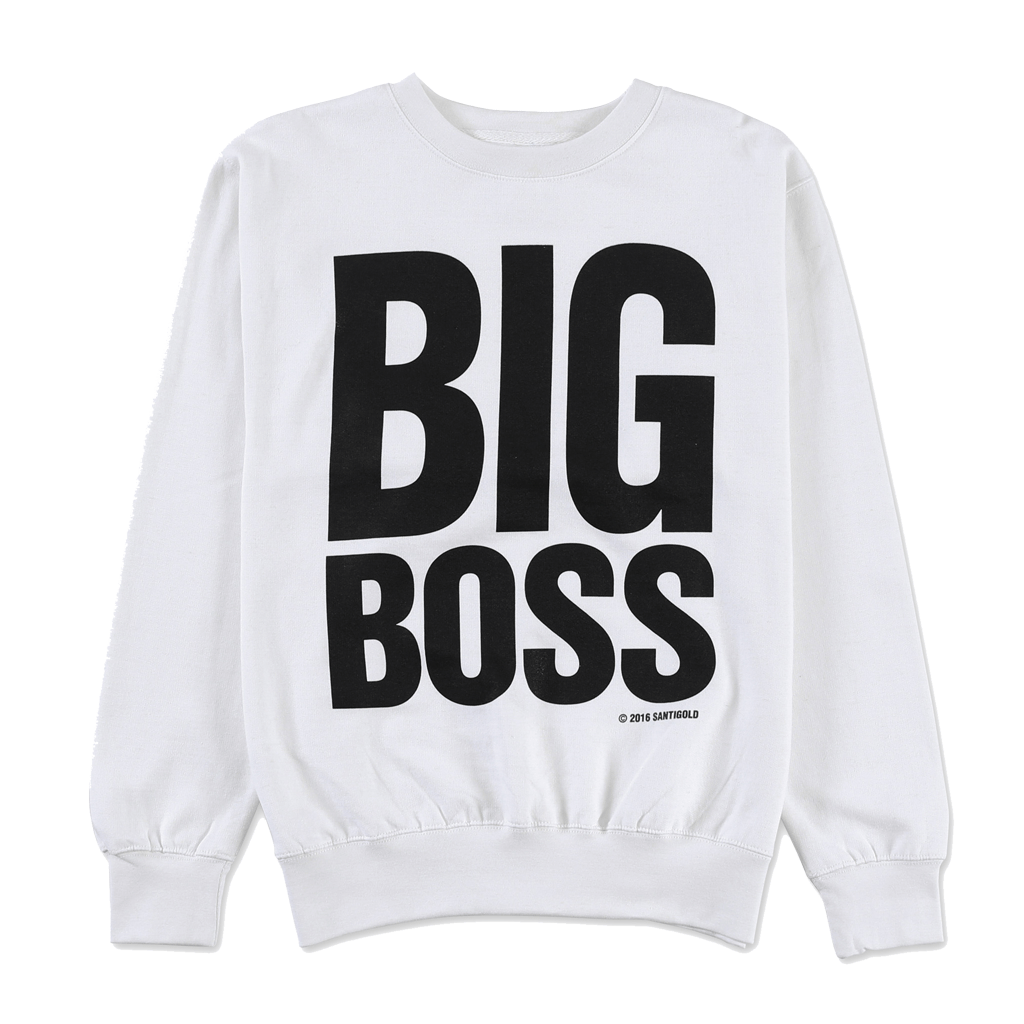 Big Boss Crewneck Sweatshirt (White)