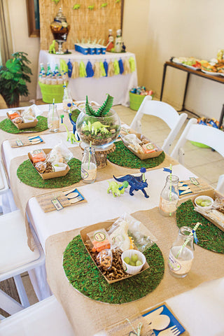 Dinosaur table setting