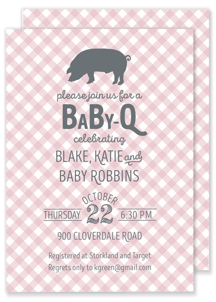 Baby Q Shower invitation