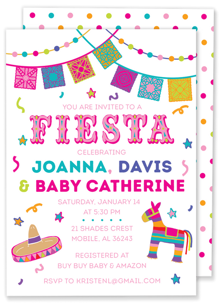Fiesta Shower Invitation