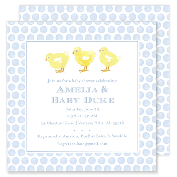 Baby Chick Shower Invitation