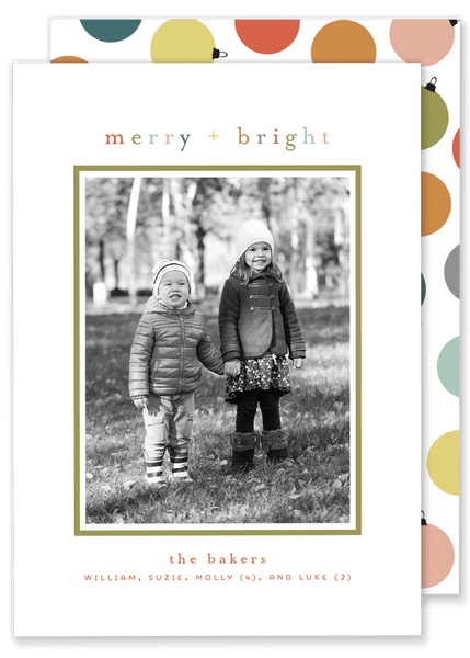 Baker Bright Christmas Card